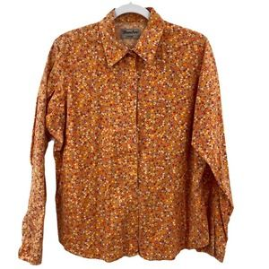 Wrancher Wrangler Button Up Shirt Ditzy Floral